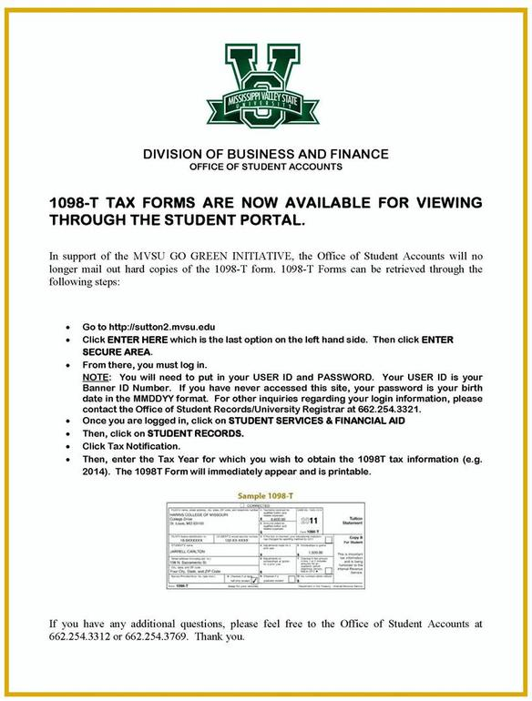 student 1098-t tax forms