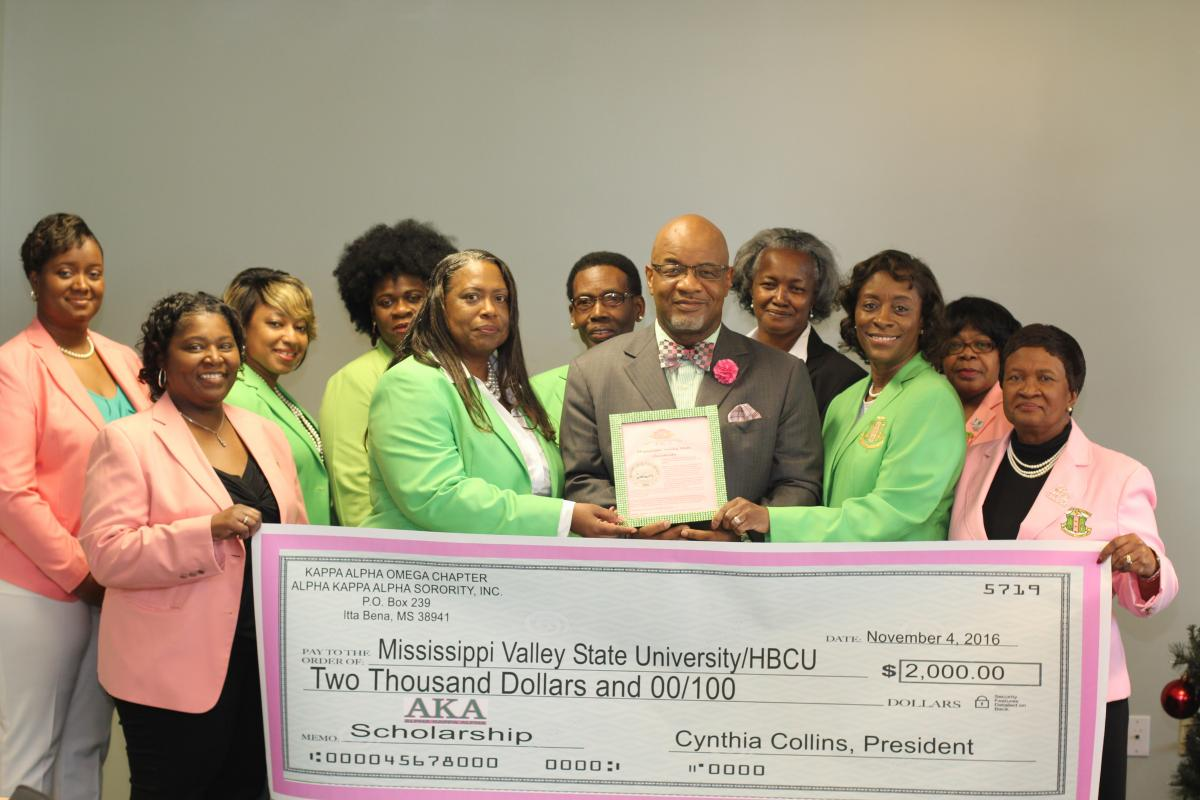 Local Graduate Chapter Of Alpha Kappa Alpha Makes Donation